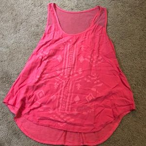 Cute Pink Tank with Tribal Print